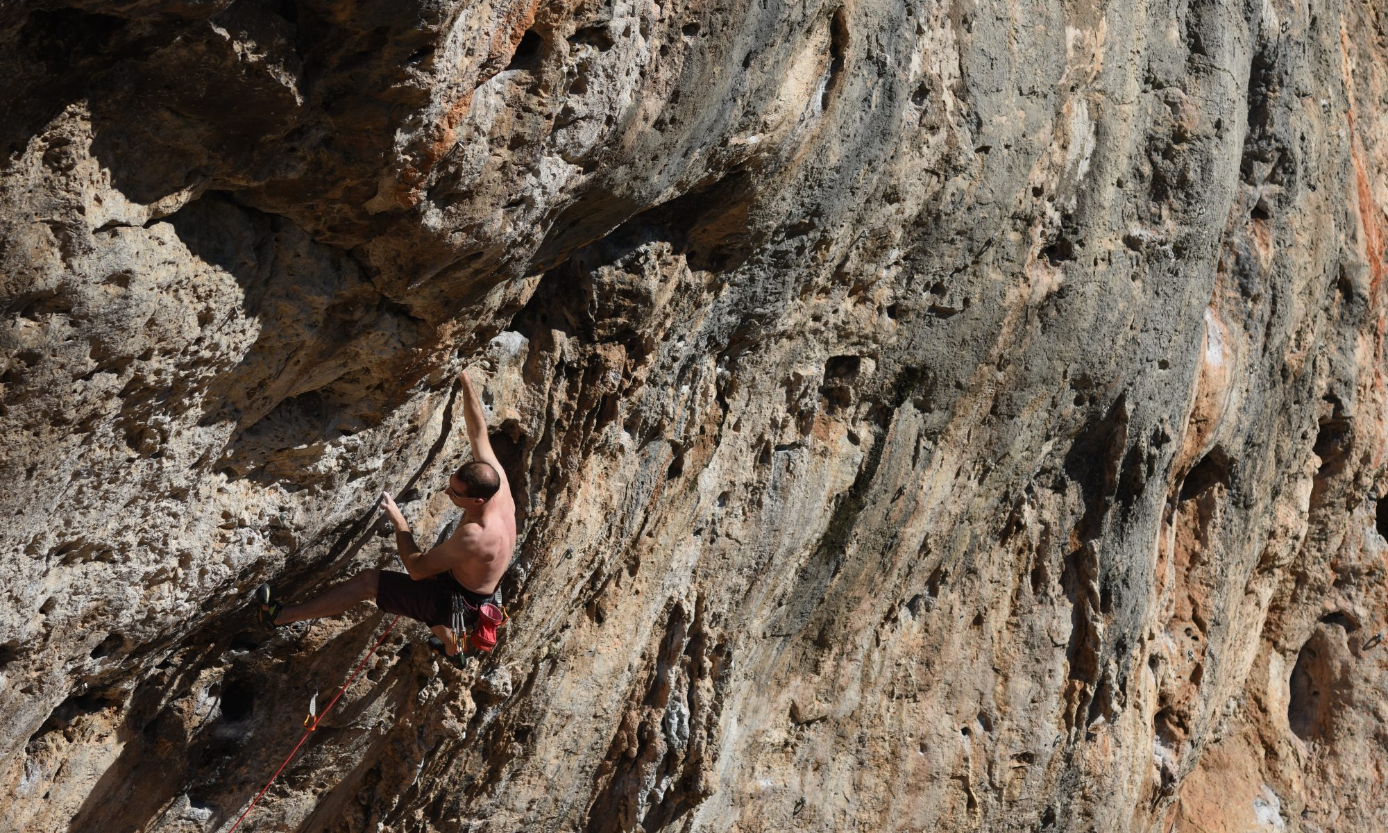 Blaniulus gluttulatus a tricky and demanding 7a at Sector Hydrualics at Gandia.