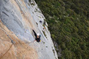 Climbing near Agero in the Picos De Europa