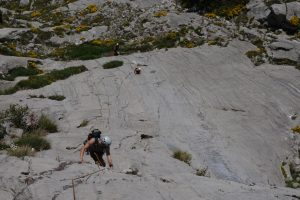 Ian Whorl following up the 7 pitch approach slab to Cerro Agero.