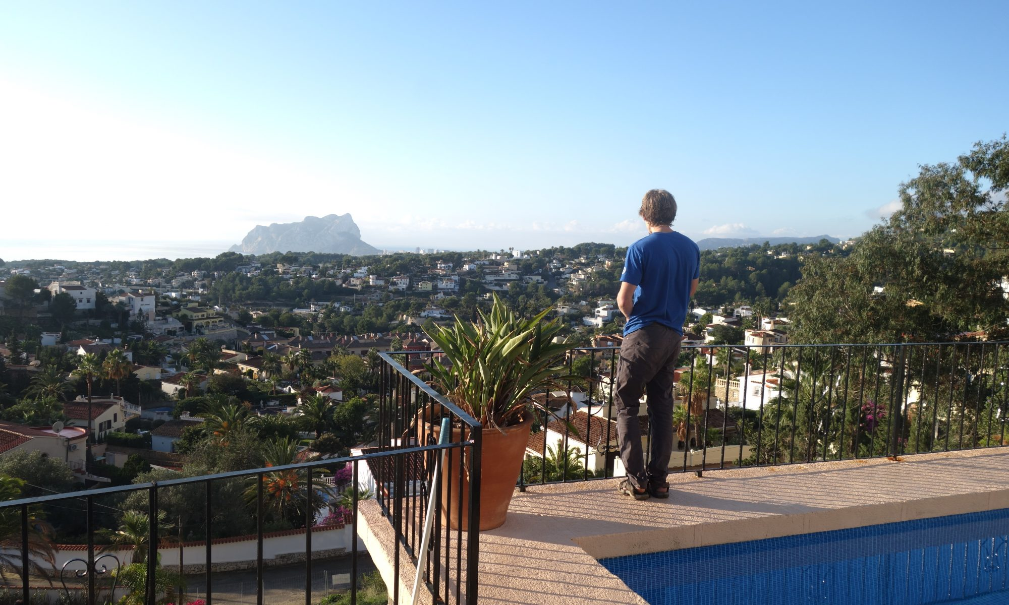 Looking out to the Penon D'Ifach and Calpe from a previous Villa.