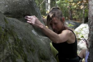 More climbing in the forest fo fontainebleau.