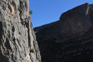 Dan on a lovely 5 at Chulilla, sadly one of the easiest routes here.