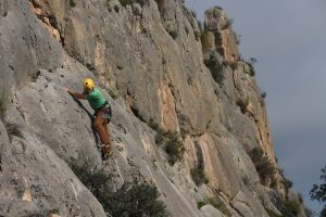 Easy climbing at Olta, Costa Blanca.