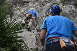 Climbing at L'Ocaive, Xalon Valley, Costa Blanca