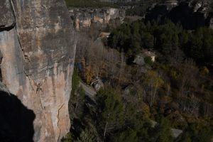 Steep limestone in the beautiful valley Cuenca, near Madrid