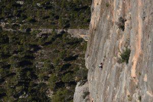Climbing on Peneta at Chulilla.