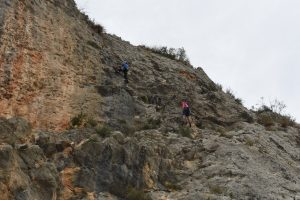 The new crag of Viudes near Bollula, which has some great climbs.