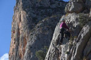 Chris at Echo 1.5, a popular novice crag in the Costa Blanca.