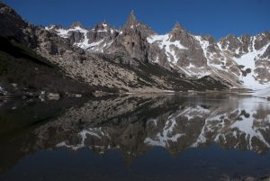 Reflections on the lake at Frey, Bariloche, Argentina