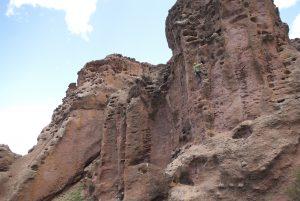 Wild rock formations in Llanquin, near Bariloche, Argenetina.