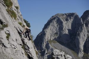 Easy climbing in the Atxarte Valley near Durango